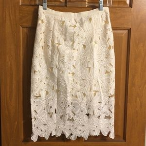 Brixon Ivy Skirts - Brixon ivy lace floral skirt size S